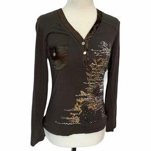 Dolce & Gabbana Cotton/Silk Long Sleeved Top XS